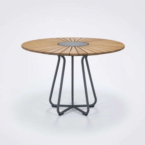 CIRCLE TABLE Ø110 BAMBOO//ALUFRAME