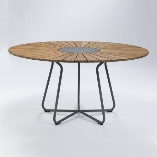 CIRCLE TABLE Ø150 BAMBOO//ALUFRAME